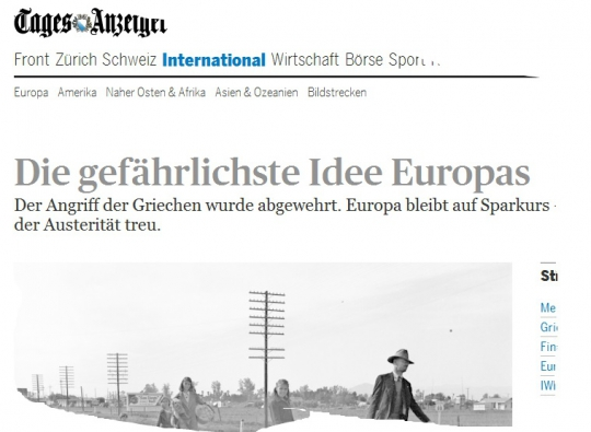 Tagesanzeiger_Krise_Euro
